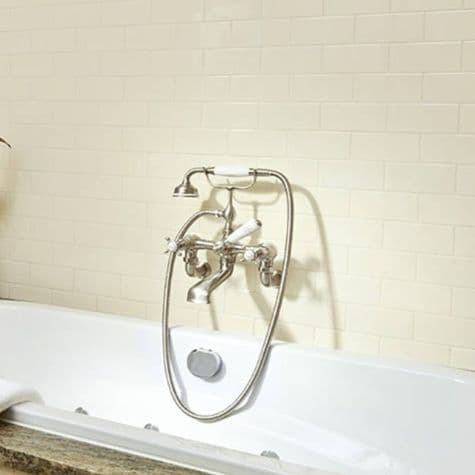 3511/1 Perrin & Rowe Bath Shower Mixer Tap And Wall Unions Crosshead